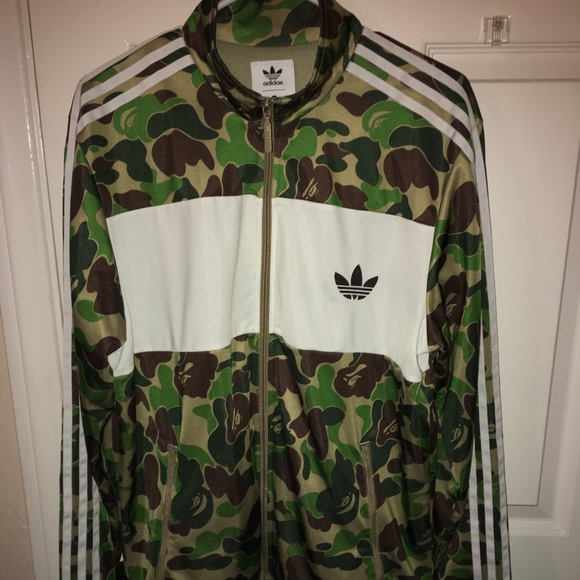 cf30b061 Bape Jackets & Coats | Adidas Collab Camo Track Jacketus L | Poshmark